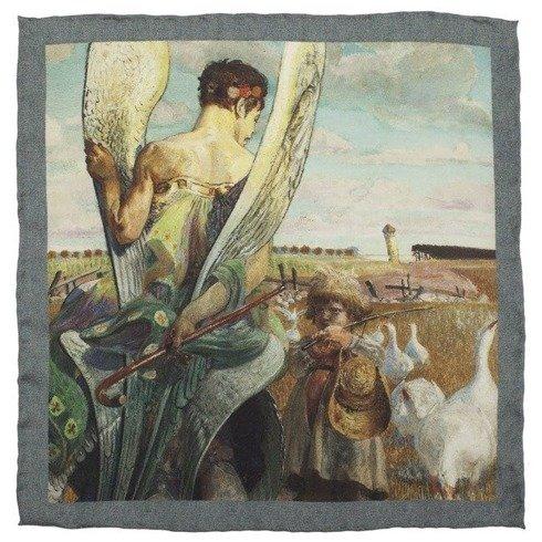 Poszetka charytatywna z obrazem Jacka Malczewskiego