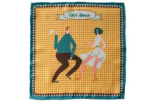 "Poszetka jedwabna ""Lets dance"""