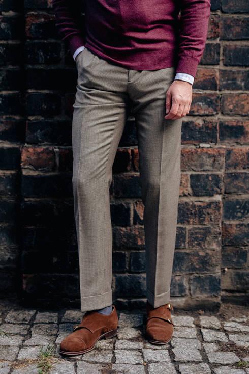 """Preorder: Spodnie """"John"""" wełniane w pepitkę"""