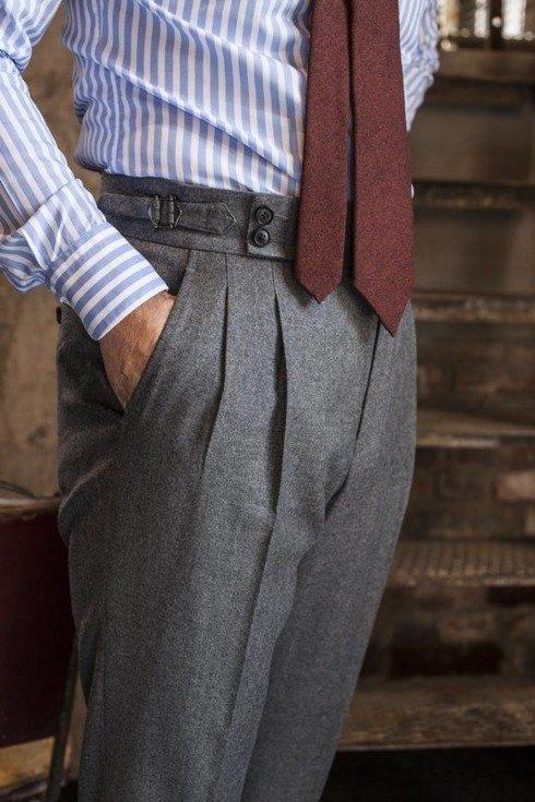 "Preorder: Spodnie z szarej flaneli ""Alfred I"""