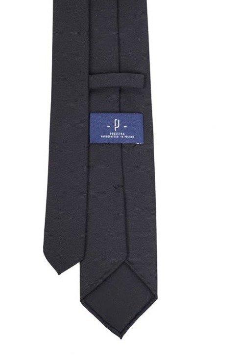 Wełniany Czarny krawat bez podszewki