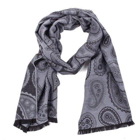 dwustronny bawełniany szal w odcieniach szarości