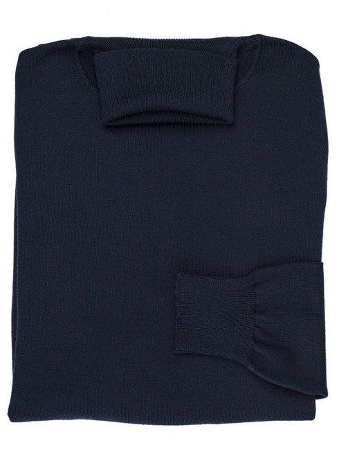 granatowy  wiosenny sweter golfowy