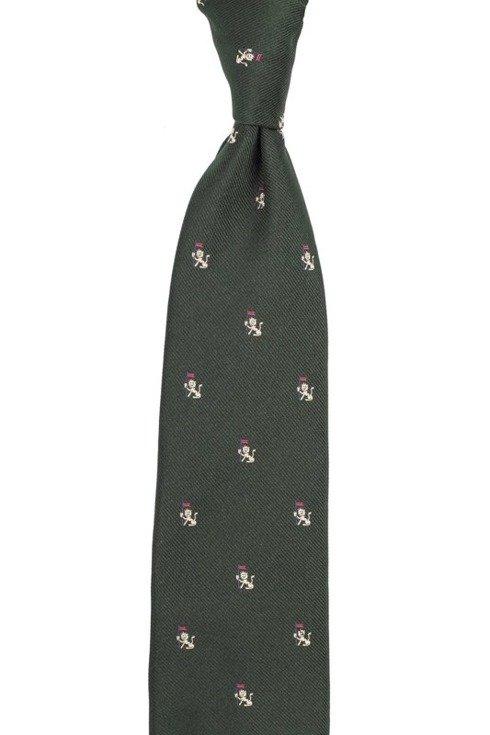 jedwabny zielony krawat