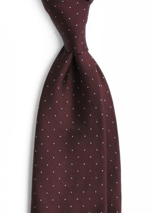 krawat jedwabny w srebrne kropki