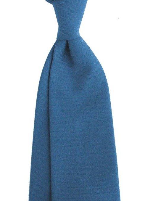turkusowy WEŁNIANY Krawat BEZ PODSZEWKI