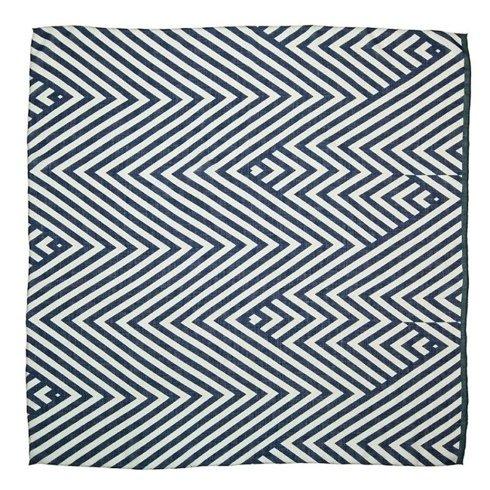 Apaszka wełniana w geometryczne wzory 110 cm