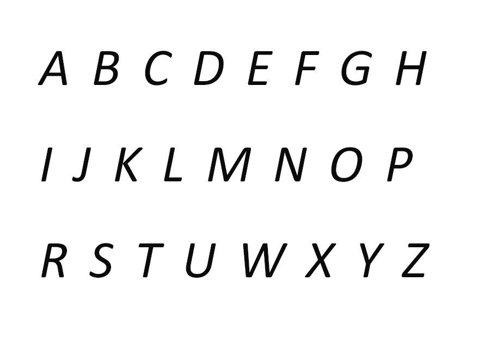 HAFT Monogram pisany Calibri 1-4 znaki