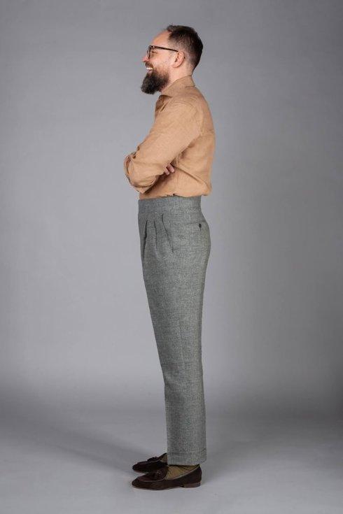 """Preorder: Spodnie lniane zielone """"John"""""""