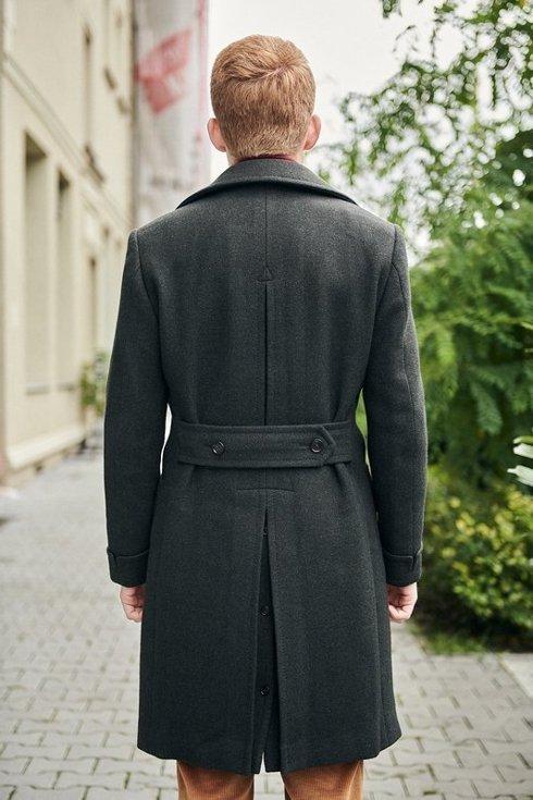 Preorder: płaszcz ulster butelkowa zieleń