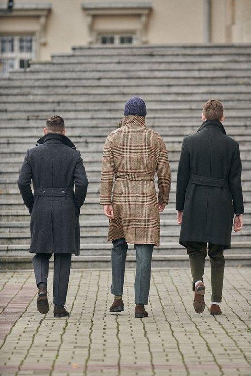 Preorder: płaszcz ulster w jodełkę