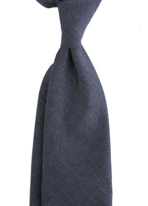 Szary WEŁNIANY Krawat BEZ PODSZEWKI