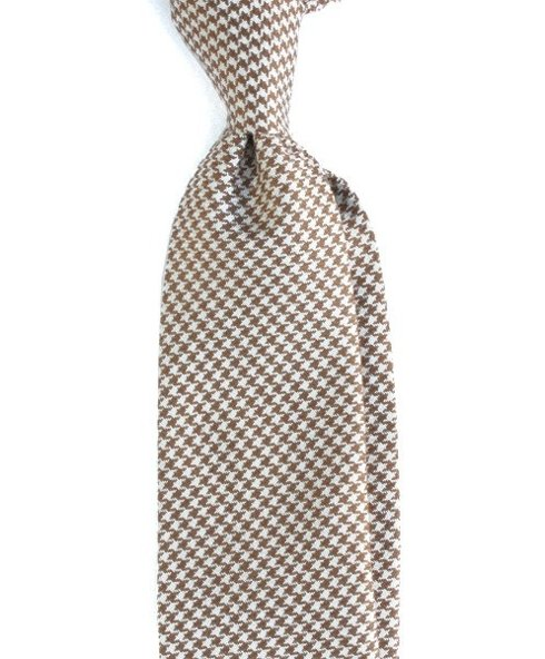 WEŁNIANY Krawat BEZ PODSZEWKI w pepitę