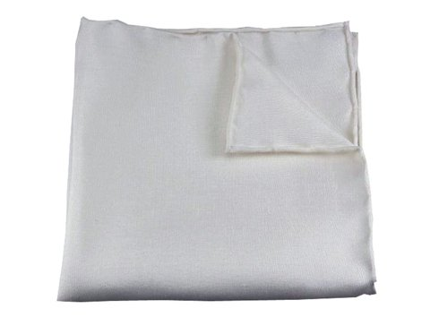 biały shantung