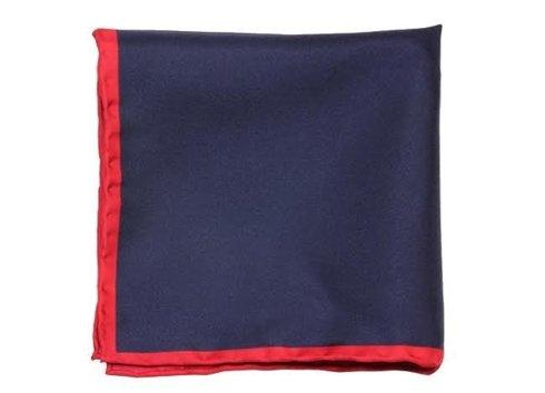 poszetka jedwabna z czerwoną ramką
