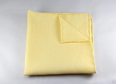 poszetka len żółta