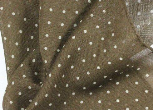 poszetka wełniano- jedwabna polka dots